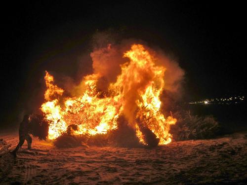 kerstboom verbranding zandvoort